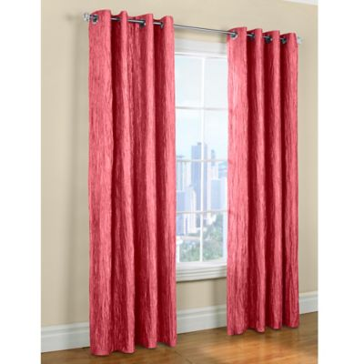 Commonwealth Home Fashions Tafetta 84-Inch Window Curtain Panel in Pink