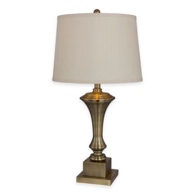 Metal Table Lamp With Antique Brass Finish