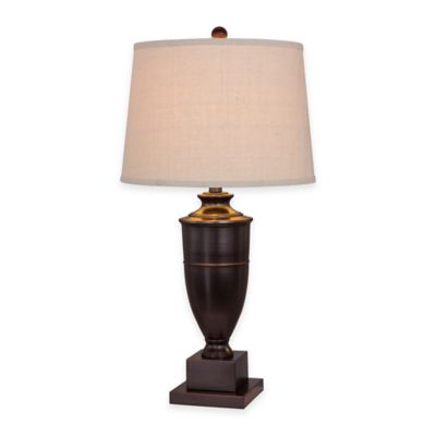 Fangio Lighting Old English Finish Metal Table Lamp