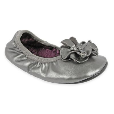 Natural Steps® Size 4 Pearlized Foldable Ballet Flat in Pewter