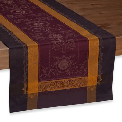 Garnier-Thiebaut 59-Inch Bagatelle Velours 21-Inch x 59-Inch Table Runner in Purple
