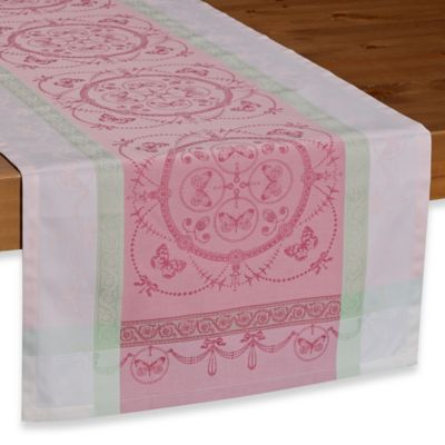 Garnier-Thiebaut Eugenie Candy 21-Inch x 59-Inch Table Runner