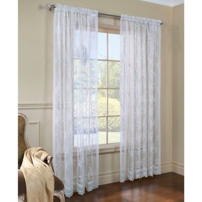 Mona Lisa 72-Inch Window Curtain Panel in White
