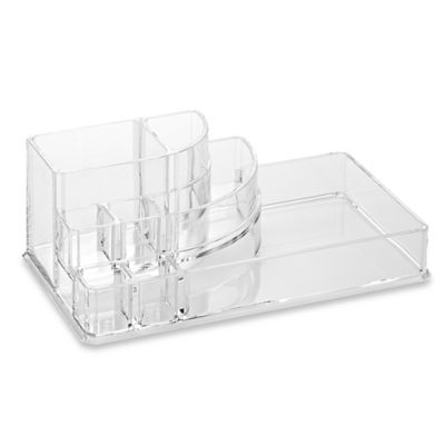 Home Basics Large Cosmetic Organizer in Clear