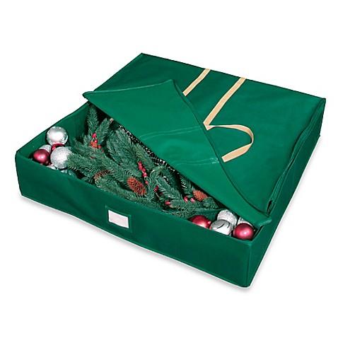 denier polyester wreath storage bag in green
