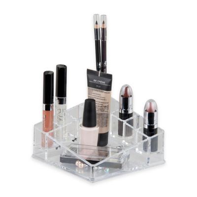 Home Basics® Small Makeup Organizer in Clear
