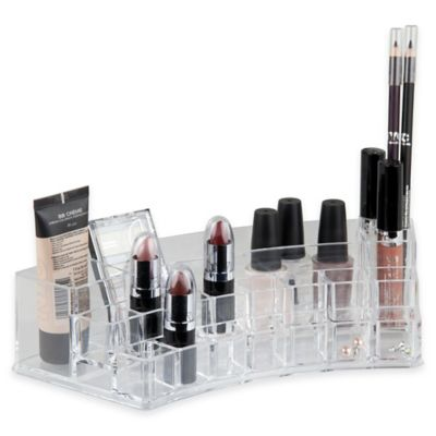 Home Basics© Large Cosmetic Organizer in Clear