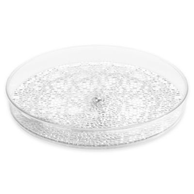 InterDesign® Rain 9-Inch Cosmetic Spinner Tray in Clear