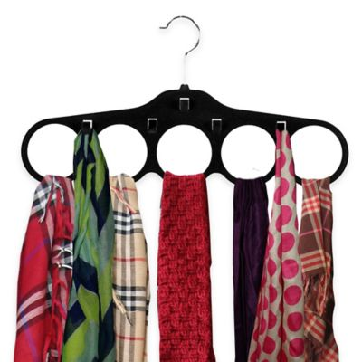 Home Basics® 4-Pack Velvet Tie/Scarf Hangers in Black