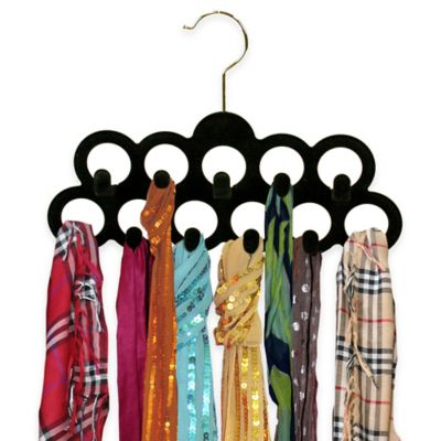 Home Basics® 3-Pack Scarf Hangers with Hooks in Black