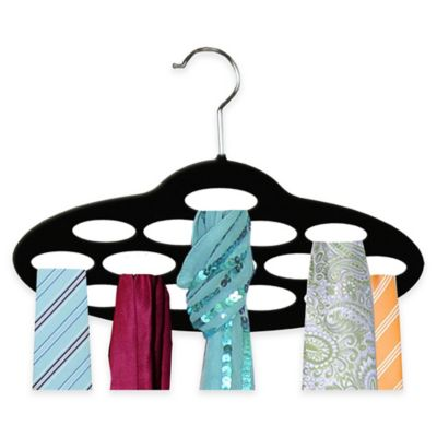 Home Basics® 2-Pack Velvet Scarf Hangers in Black