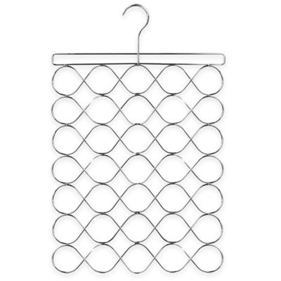 Home Basics® Waves Large Scarf Organizer in Chrome