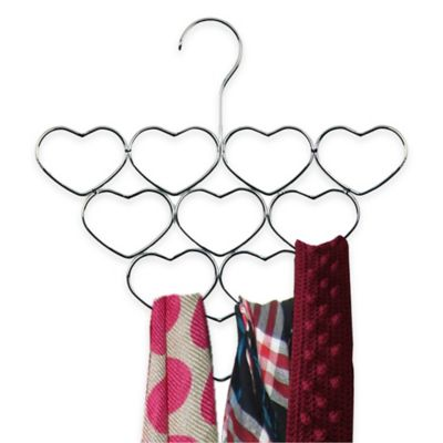 Home Basics® Heart Scarf Holder in Chrome