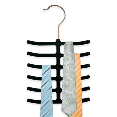 Home Basics® 3-Pack Velvet Tie Hangers in Black