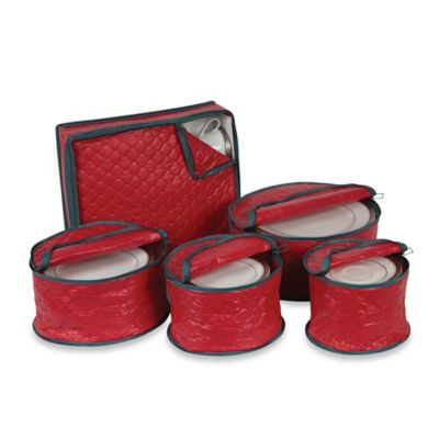 Holiday 5-Piece China Storage Set in Red