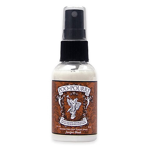 Buy poo pourri before you go toilet spray in juniper woods from bed bath beyond for Poo pourri before you go bathroom spray