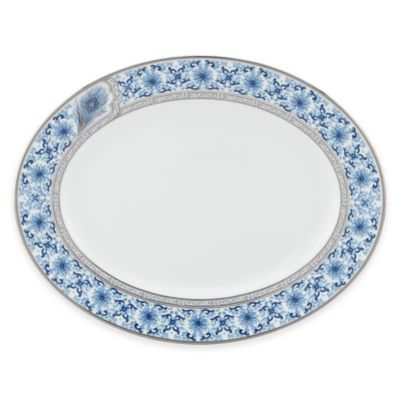 Marchesa by Lenox® Couture Sapphire Plume Oval Platter