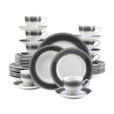 Mikasa® Platinum Crown 40-Piece Dinnerware Set in Slate