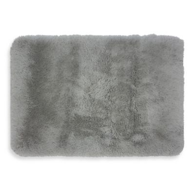 Monster 2-Foot 7-Inch x 3-Foot 8-Inch Shag Accent Rug in Bright Grey