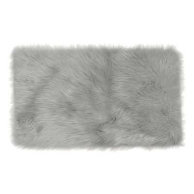 Frost Faux Fur 2-Foot x 3-Foot Accent Rug in Grey
