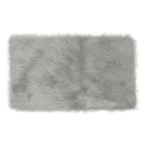 Frost Faux Fur Decorative Rug Bed Bath Amp Beyond
