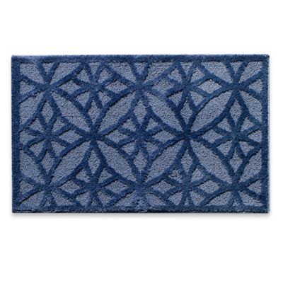 Luxe Step 1-Foot 6-Inch x 2-Foot 6-Inch Accent Rug in Blue