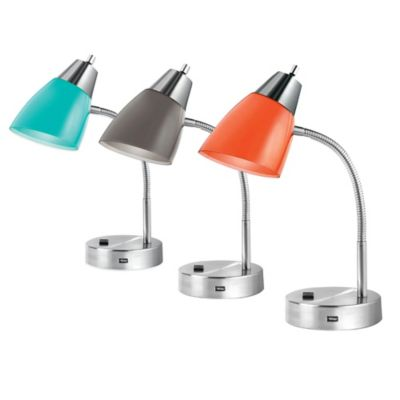 Studio 3B Outlet/USB Desk Lamp in White