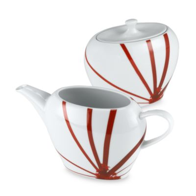 Mikasa® Creamer and Sugar Jar in Pure Red