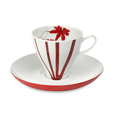 Mikasa® 4-Ounce Espresso Cup & Saucer in Pure Red