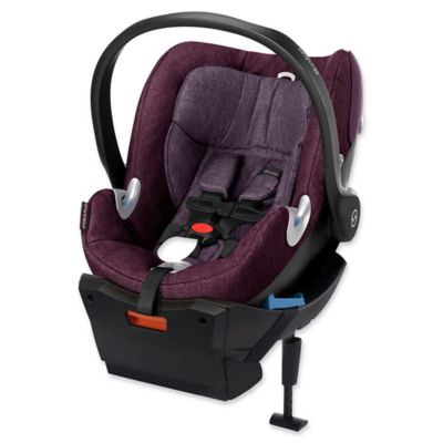 Cybex Platinum Aton Q Plus 2015 Infant Car Seat with Load Leg Base in Grape Juice