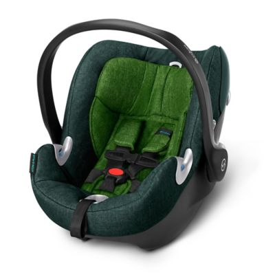 Cybex Platinum Aton Q Plus 2015 Infant Car Seat with Load Leg Base in Green Hawaiian