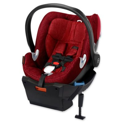 Cybex Platinum Aton Q Plus 2015 Infant Car Seat with Load Leg Base in Hot & Spicy