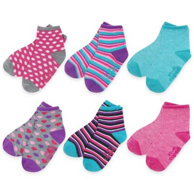 Capelli New York Size 12-24M 6-Pack Marled and Striped Socks