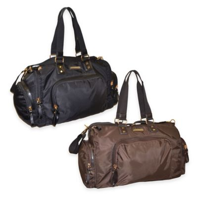 Adrienne Vittadini 22-Inch Nylon Weekend Duffle in Black