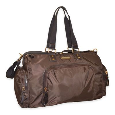Adrienne Vittadini 22-Inch Nylon Weekend Duffle in Brown