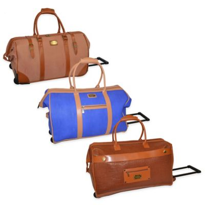 Brown Rolling Duffle