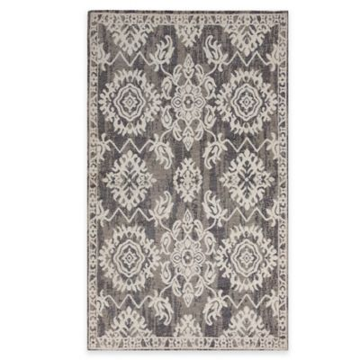 Temptation Scatter Accent Rug in Light Grey