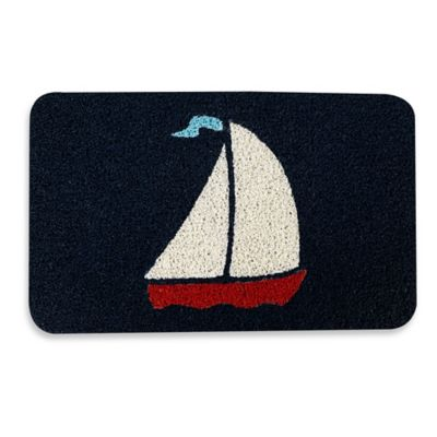 Kikkerland® Design 17.7-inch x 29.5-inch Sailboat Door Mat