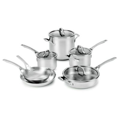 Calphalon® Signature™ Stainless Steel 10-Piece Cookware Set