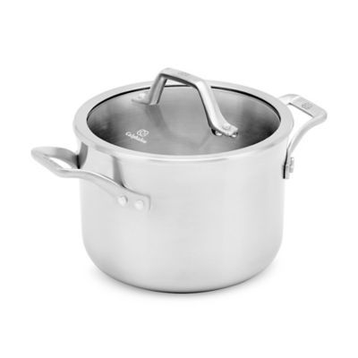 Calphalon® Signature™ 4 qt. Soup Pot with Cover in Silver