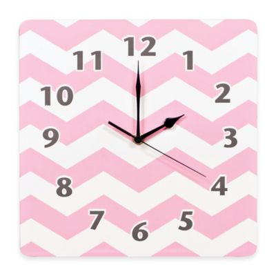 Trend Lab® Pink Sky Chevron Wall Clock
