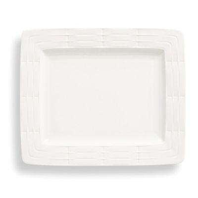 White® Rectangular Porcelain Plates