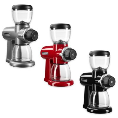 KitchenAid® Burr Coffee Bean Grinder in Silver