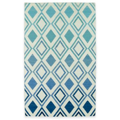 Kaleen Glam Ombre Diamonds 2-Foot 3-Inch Accent Rug in Blue