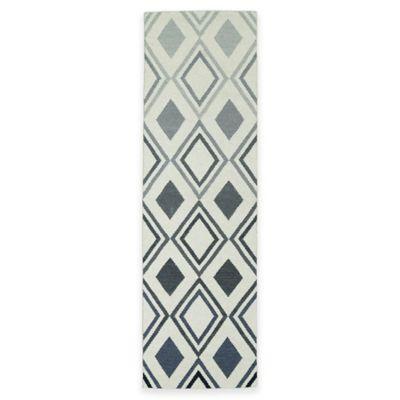 Kaleen Glam Ombre Diamonds 2-Foot 6-Inch x 8-Foot Runner in Grey