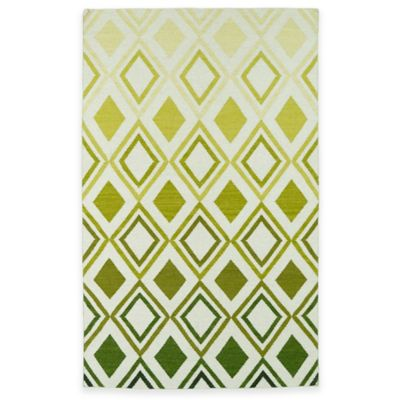 Kaleen Glam Ombre Diamonds 3-Foot 6-Inch x 5-Foot 6-Inch Area Rug in Green