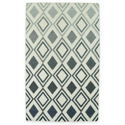 Kaleen Glam Ombre Diamonds 8-Foot x 10-Foot Area Rug in Grey
