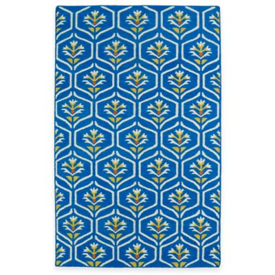 Kaleen Glam Floral 2-Foot 6-Inch x 8-Foot Runner in Blue