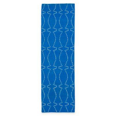 Kaleen Glam Pin Dot 2-Foot 6-Inch x 8-Foot Runner in Blue