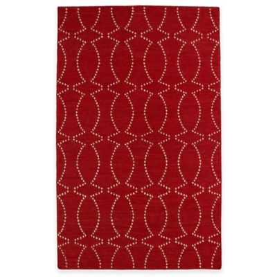 Kaleen Glam Pin Dot 3-Foot 6-Inch x 5-Foot 6-Inch Area Rug in Red